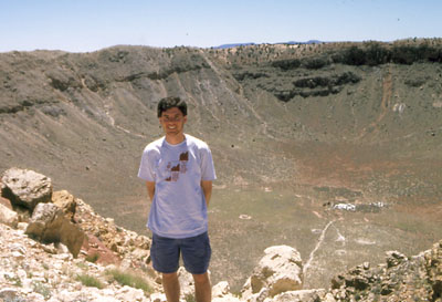 Photo of John Hunter at Meteor Crater