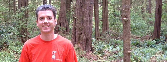 photo of John Hunter on Alva Trail in Olympic National Park, 2005