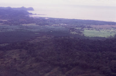 Photo of Costa Rica from plane
