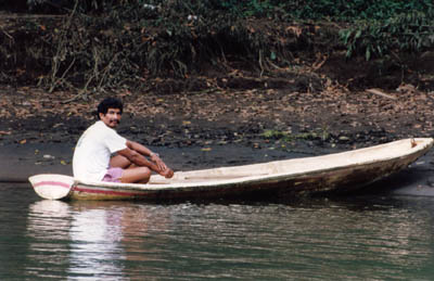 photo of dugout canoe