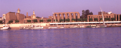 Photo of Luxor from the Nile