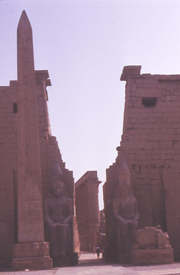 Photo of Entrance to the Temple at Luxor
