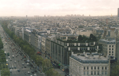 Photo from the top of the Arc de Triomphe
