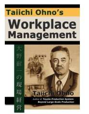 image of the cover of Workplace Management by Taiichi Ohno