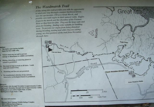 photo of Woodmarsh Trail sign