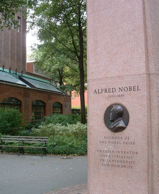 photo of Monument to American Nobel Prize winners, NYC