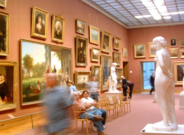photo of gallery at the Metropolitan Museum of Art, NYC