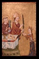 Bishop of Assisi giving a palm to Saint Clare, Germany about 1300