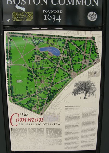 Boston Common map