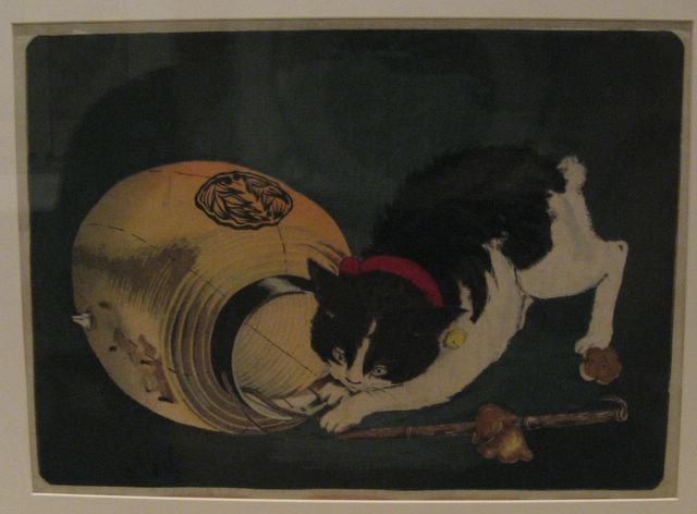 Photo of a painting of a cat