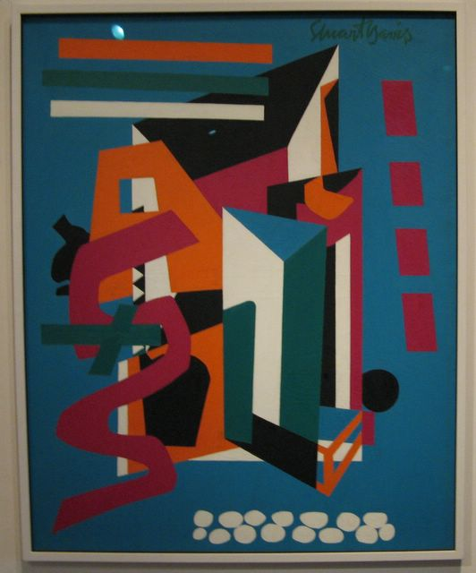 Photo of Stuart Davis painting - Medium Still Life