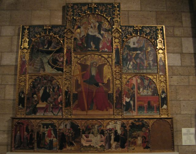 Painting at the Cloisters Museum