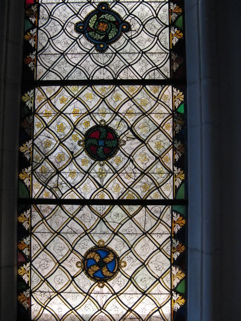 photo of stained glass window at the Cloisters