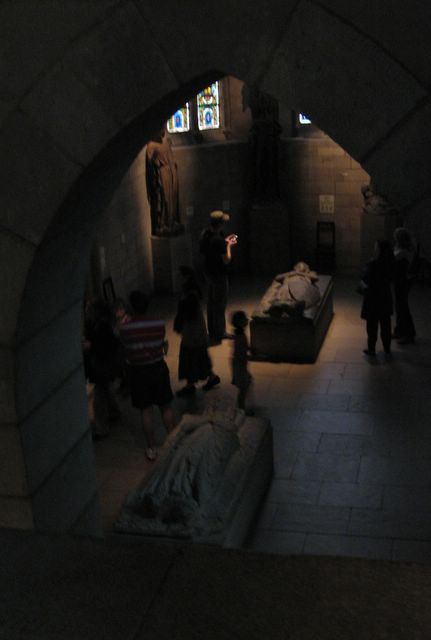photo of Tomb effigies at the Cloisters