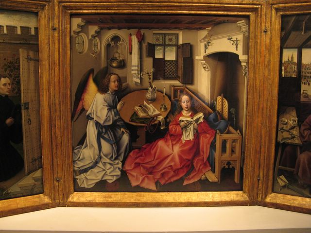 The Annunciation Triptych by Robert Campin