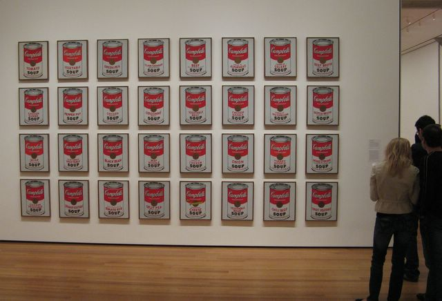Campbell's Soup Cans paintings by Andy Warhol, Museum of Modern Art