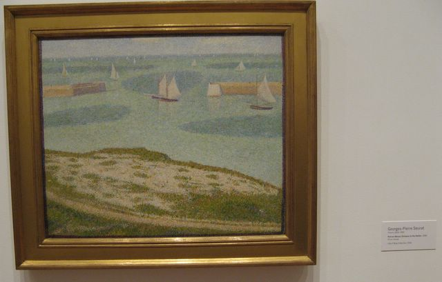 Port-en-Bessin (Entrance to the Harbor) by Georges-Pierre Seurat, 1888.
