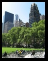 Bryant Park, behind New York Public Library, NYC